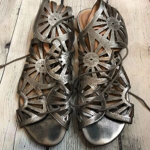 Joie Shoes - Joie Teagan Laser Cut Gladiator Sandals